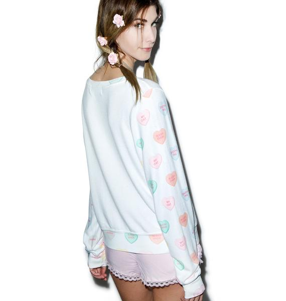 Wildfox Couture My Sweet Heart Baggy Beach Jumper
