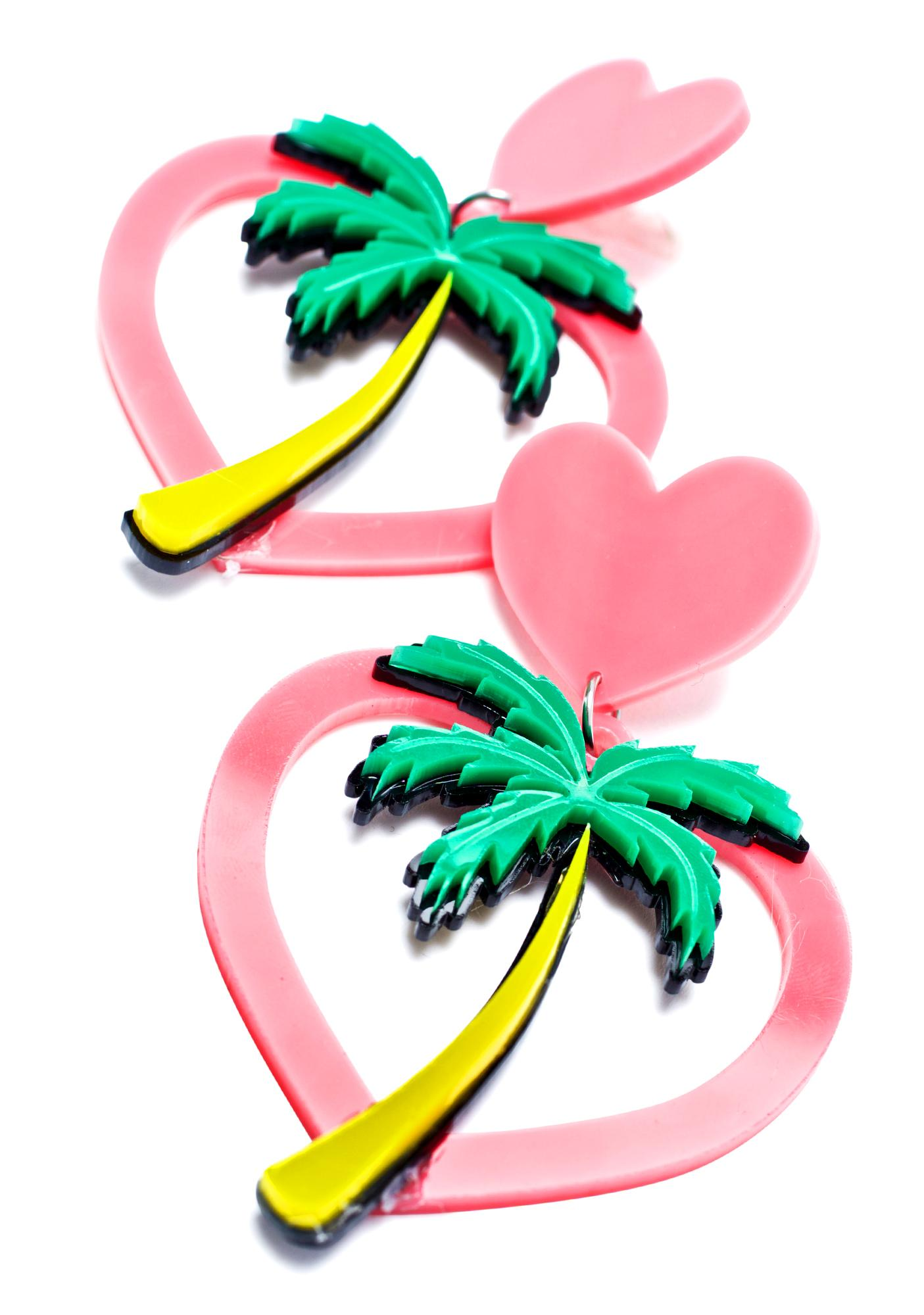 Haus of Dizzy Hawaiian Hearts Earrings