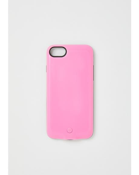 Pink Future Light Up IPhone Case