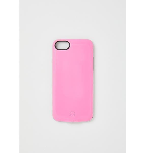 Cyberdog Pink Future Light Up IPhone Case