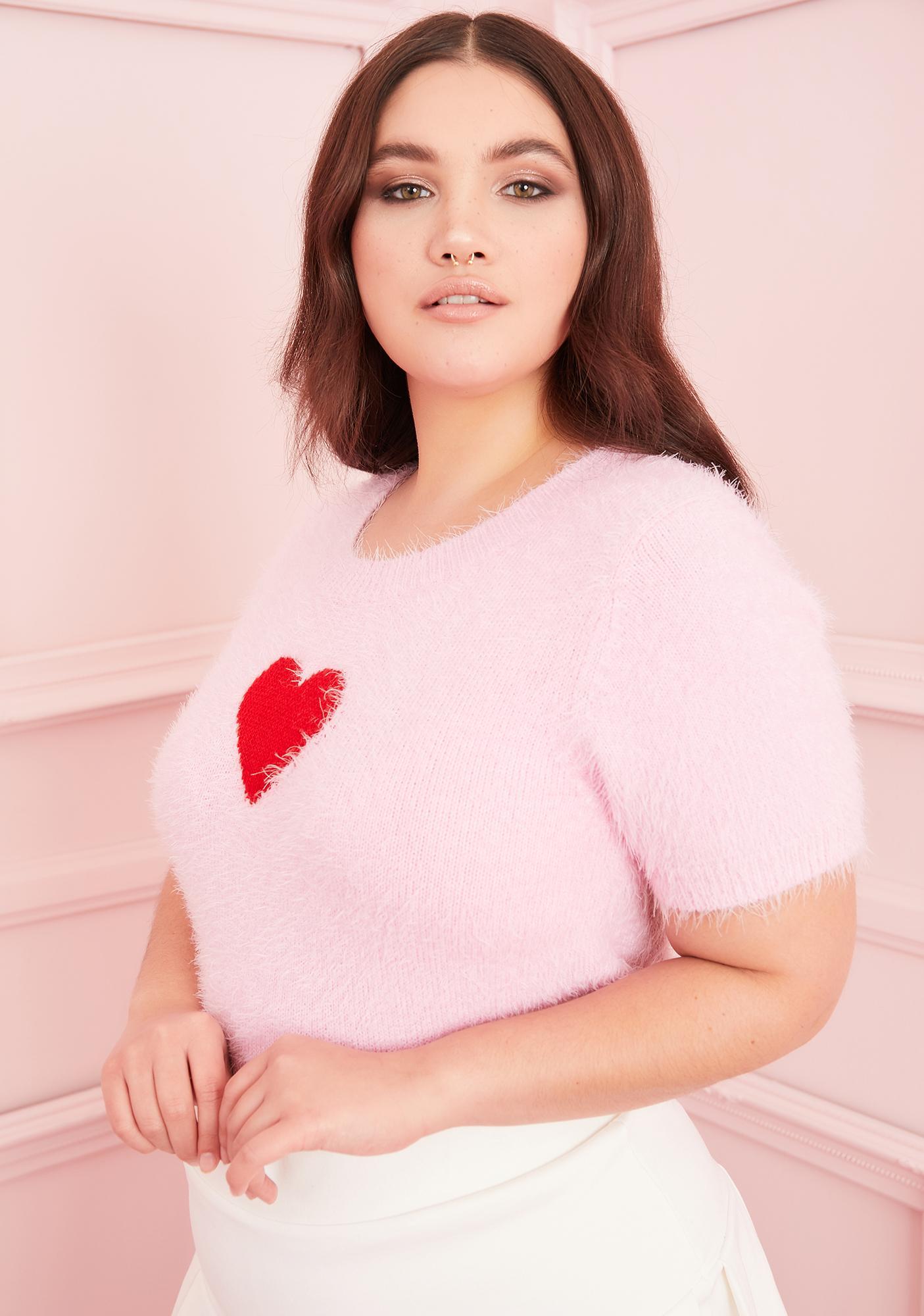 Sugar Thrillz Pretty Love Letters Heart Sweater