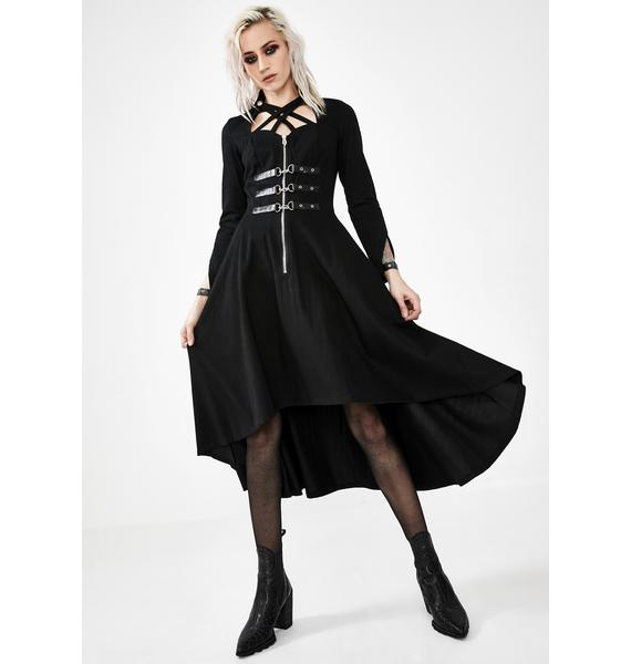 Dark In Love Punk Buckle Criss Cross Dress