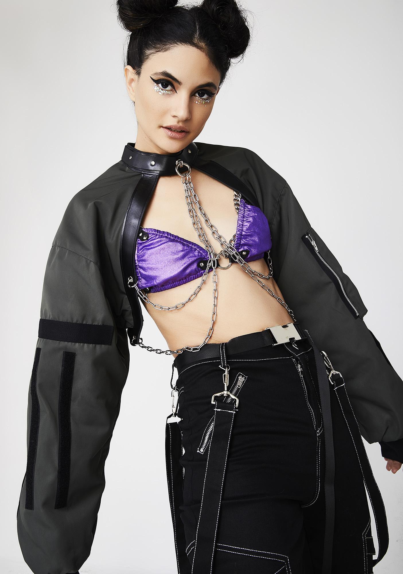 Namilia Chain Choker Bomber Jacket