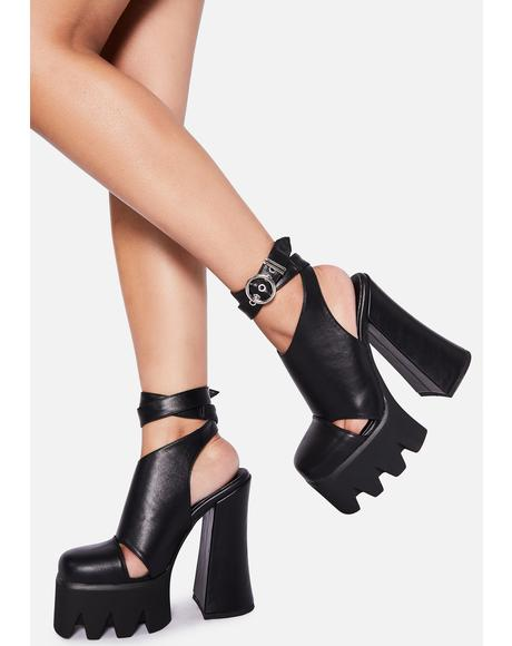 Destined Disaster Wrap Heels