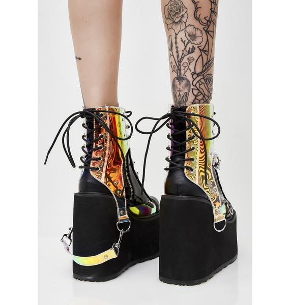 Demonia Black Hole Platform Boots