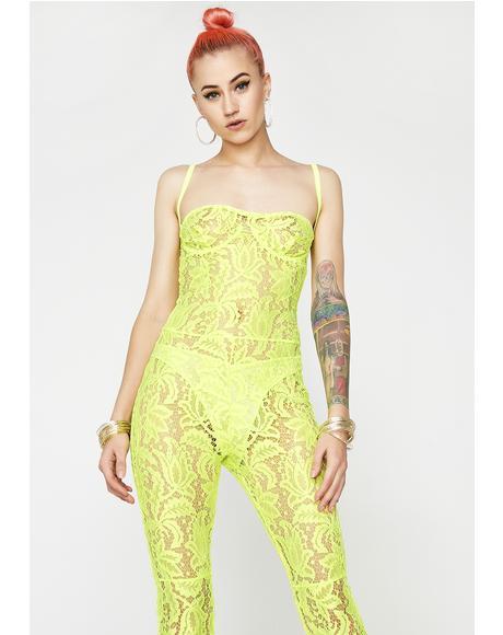 Sunny Siren Lace Full Bodysuit