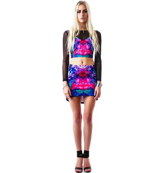 Tiger Mist Electric Trapeze Skirt