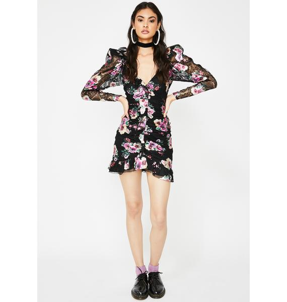 For Love & Lemons Benatar Ruffle Mini Dress