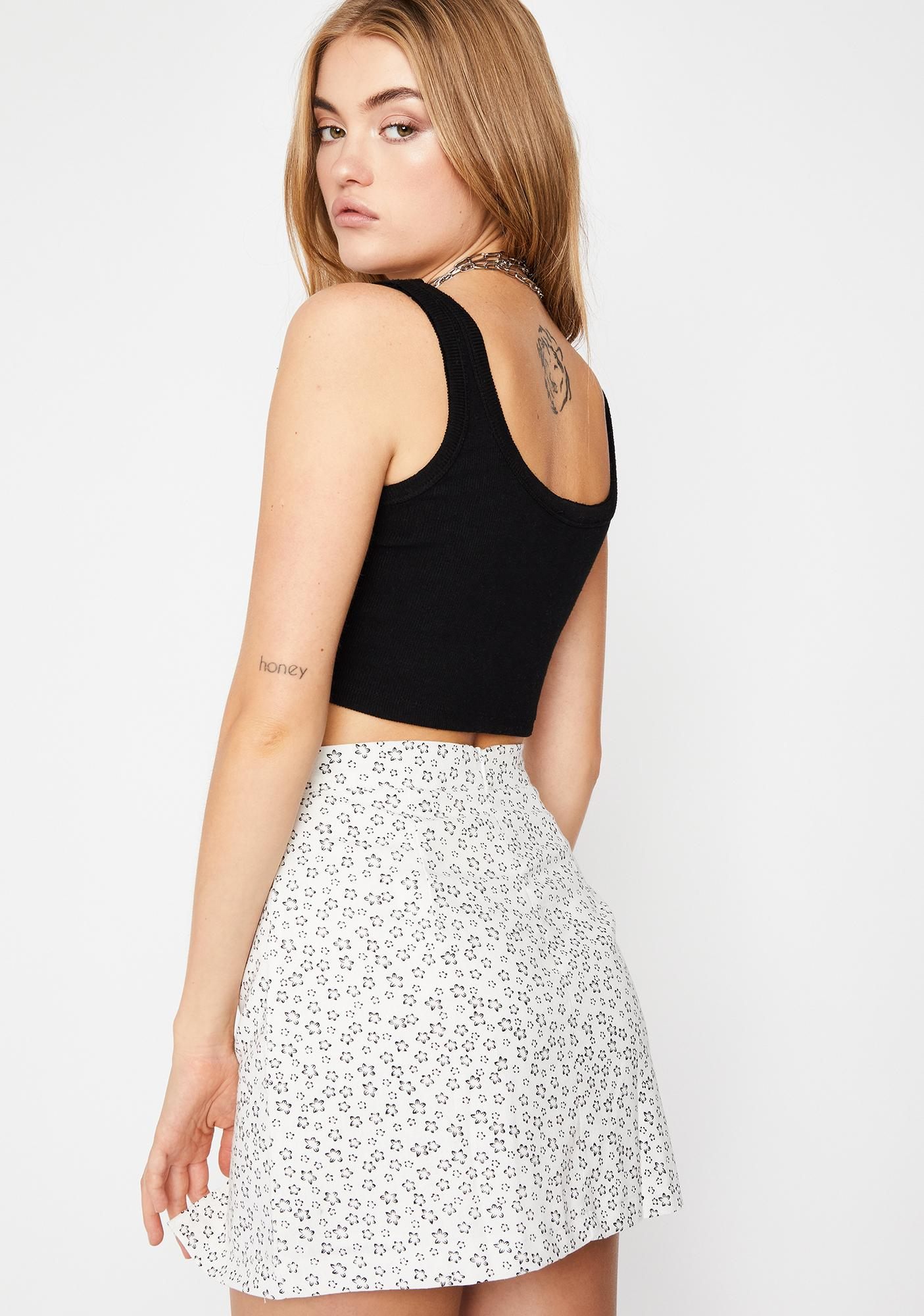 Early Petal Picker Floral Mini Skirt