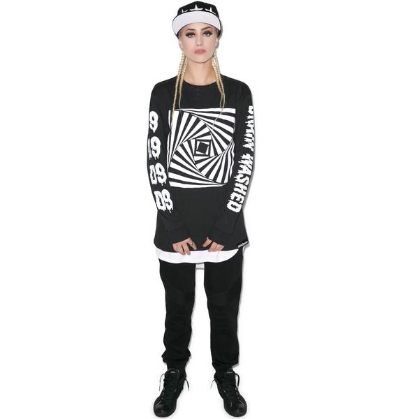 D9 Reserve Hypnotized Brain Washed Long Sleeve Tee