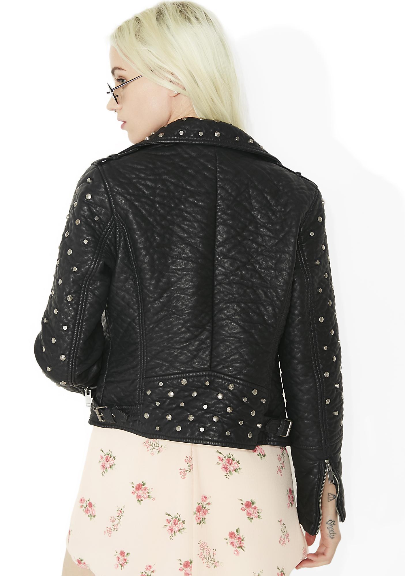 Glamorous On The Edge Studded Moto Jacket