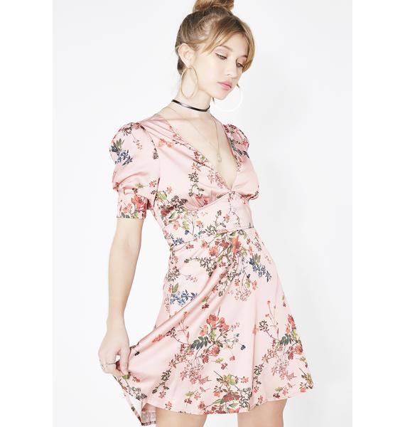 Honey Punch Drippin' Daisies Mini Dress