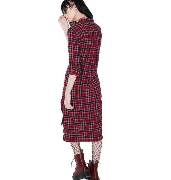Homeroom Flannel Dress