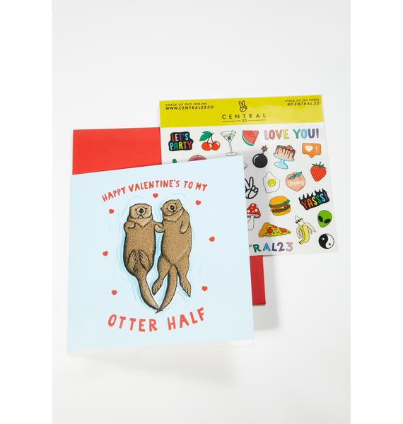 Central 23 Happy Valentine's To My Otter Half Card