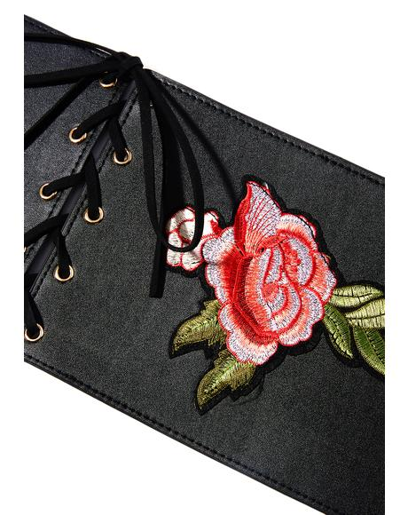 Barbary Coast Embroidered Corset Belt