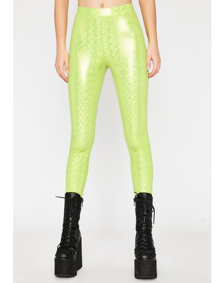 Nuclear Waves Metallic Leggings