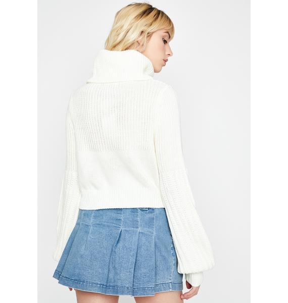 Call U Maybe Turtleneck Sweater