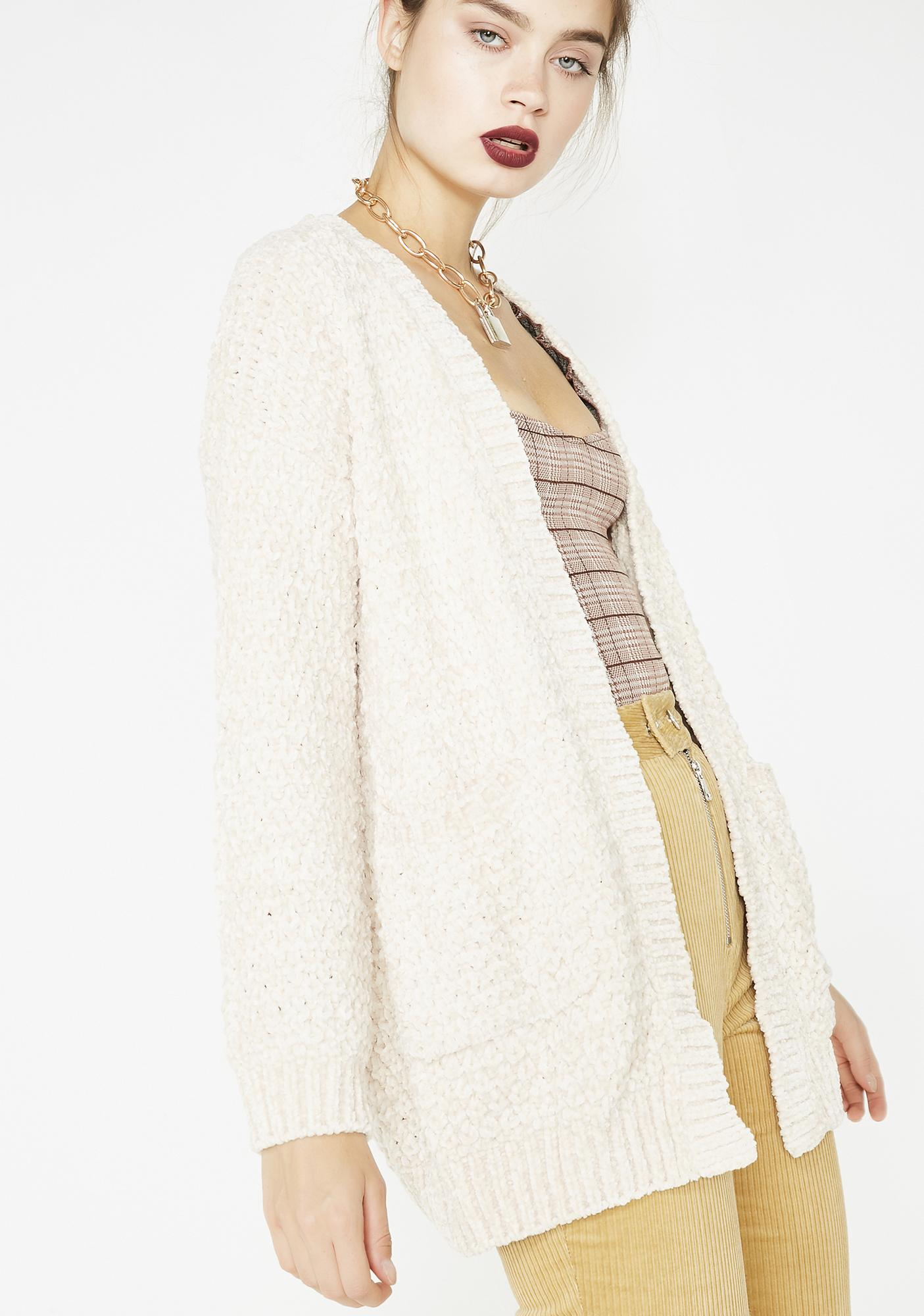 Cream Kiss The Sky Knit Cardigan
