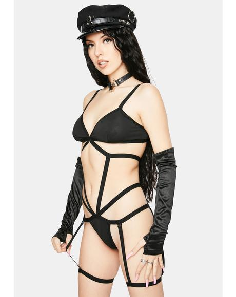 Stole Ur Girl Strappy Lingerie Set