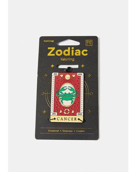 Emotional Cancer Zodiac Keychain