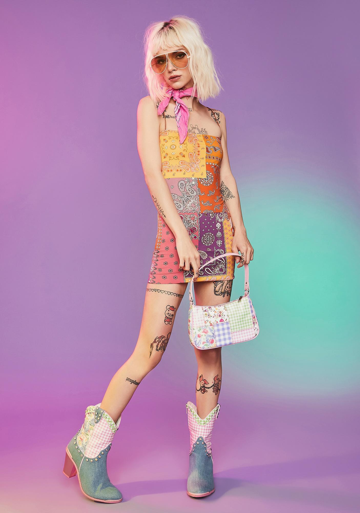 My New Fling Paisley Mini Dress