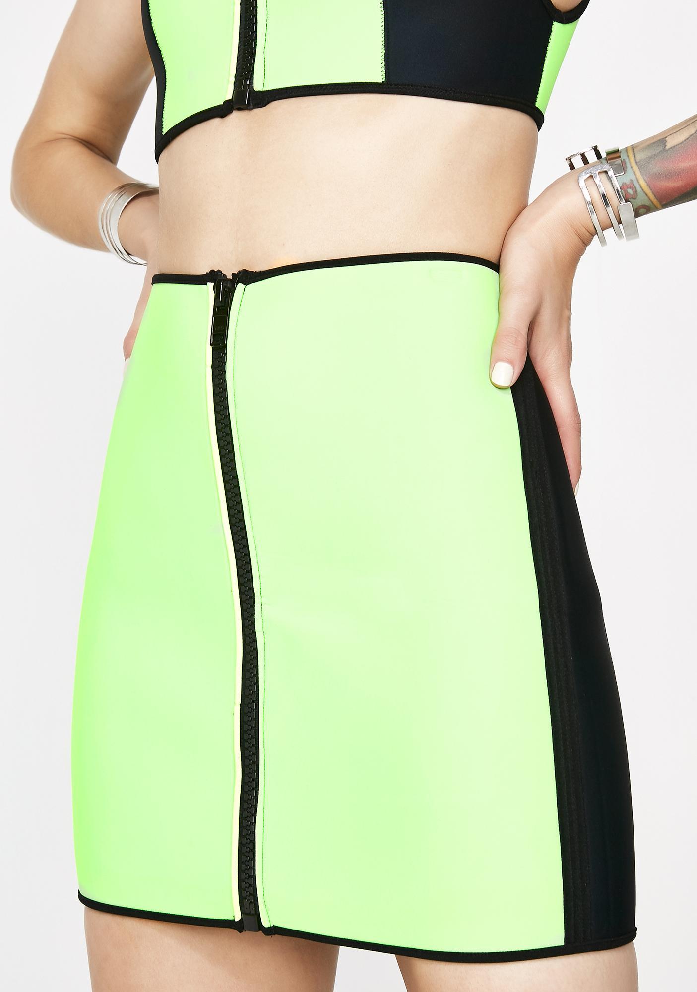 Current Mood Deadly Dip Neoprene Skirt