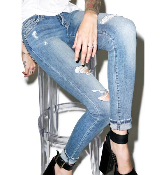 Paige Distressed Skinny Jeans