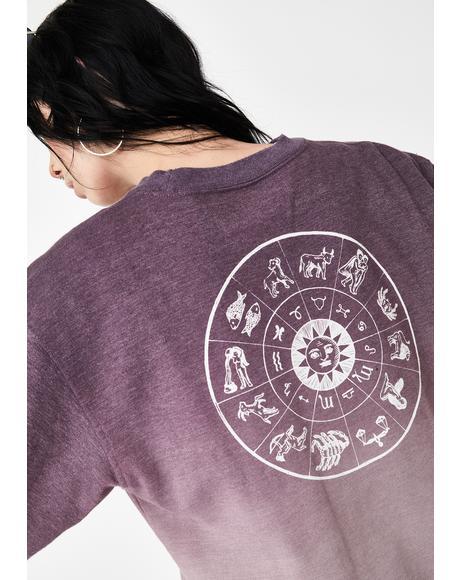 Zodiac Dip Tie Dye Pullover
