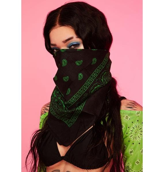 Emerald Rebel Rodeo Bandana Scarf