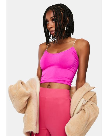 Pink Brami Seamless Cami Tank Top
