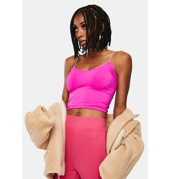 Free People Pink Brami Seamless Cami Tank Top