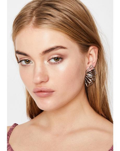 Flying Solo Butterfly Earrings