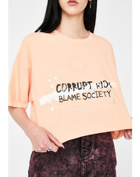 Corrupt Crop Graphic Tee