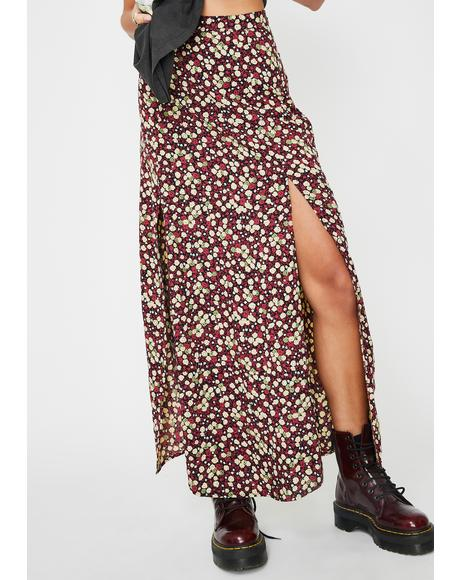 Floral Mica Maxi Skirt
