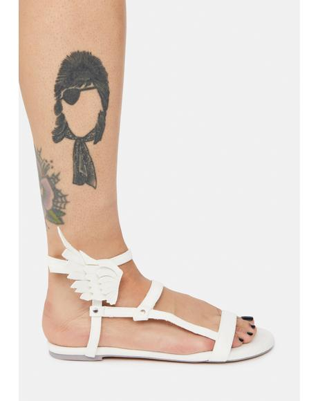 White Flyh Olympian Winged Sandals