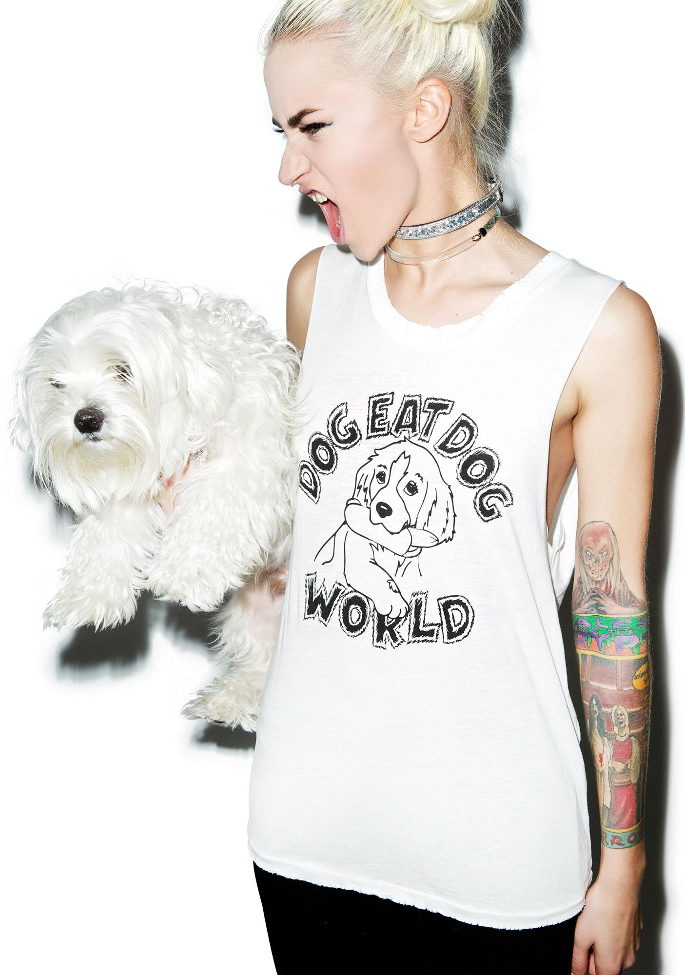 Petals and Peacocks Dog Eat Dog Destroyed Tank Top