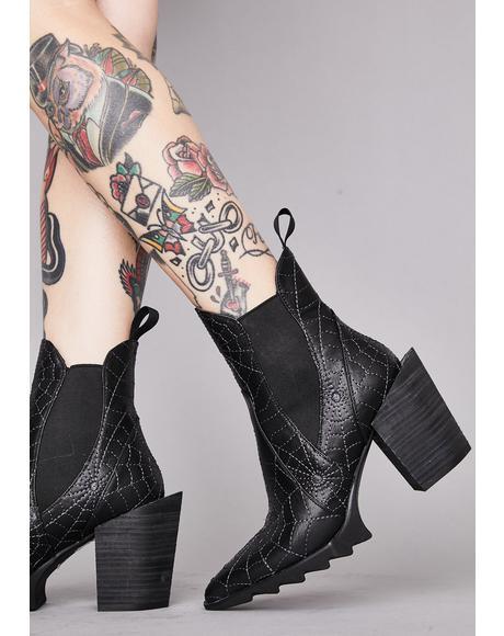 Fallen Prey Ankle Boots