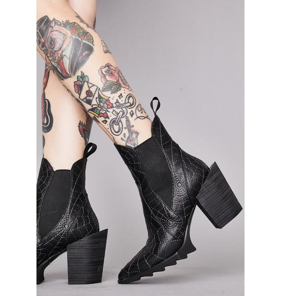 Widow Fallen Prey Ankle Boots