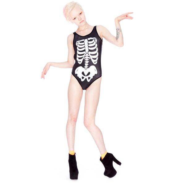 Wildfox Couture Skeleton One Piece