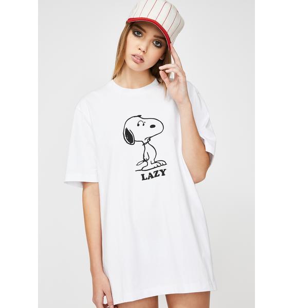 Lazy Oaf X Peanuts Lazy Snoop Graphic T-Shirt
