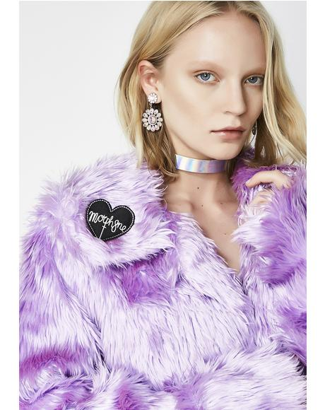 Magenta Faux Fur Coat