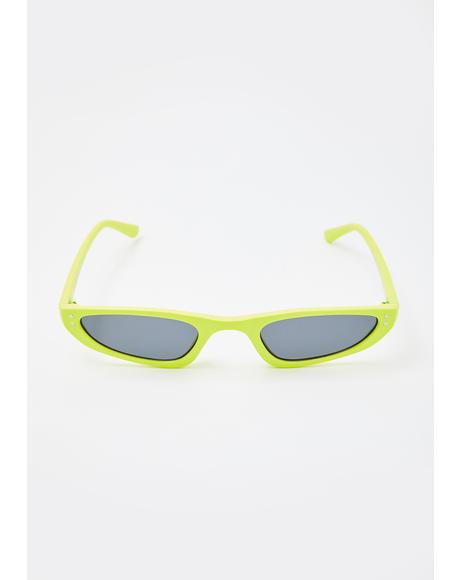 Lime Total Cliche Tiny Sunglasses