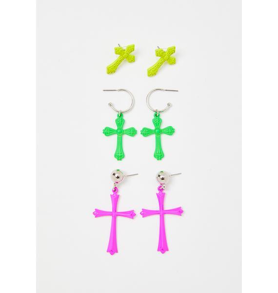 Electric Saint Earring Set