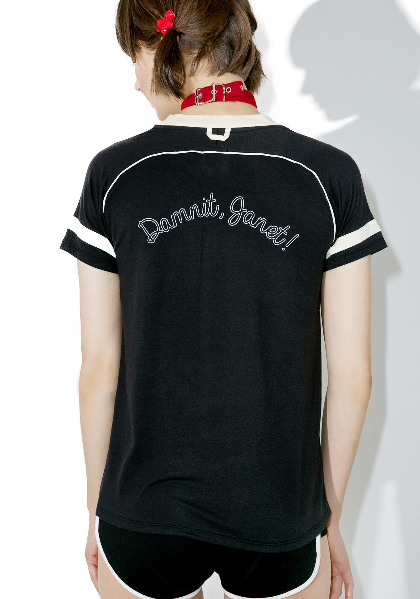 Camp Collection Damnit Janet Varsity Tee