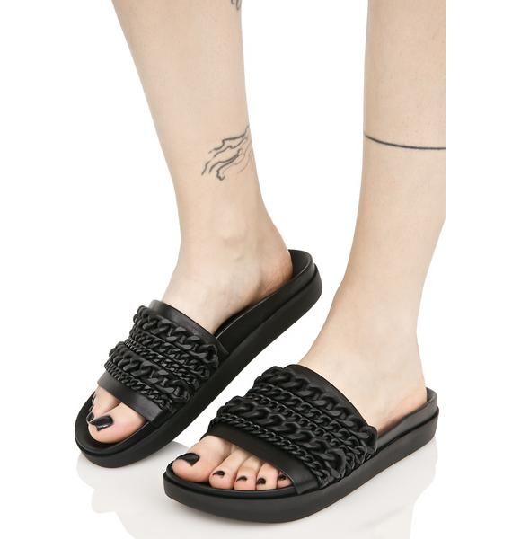 Kendall + Kylie Onyx Slide Sandal With Chains