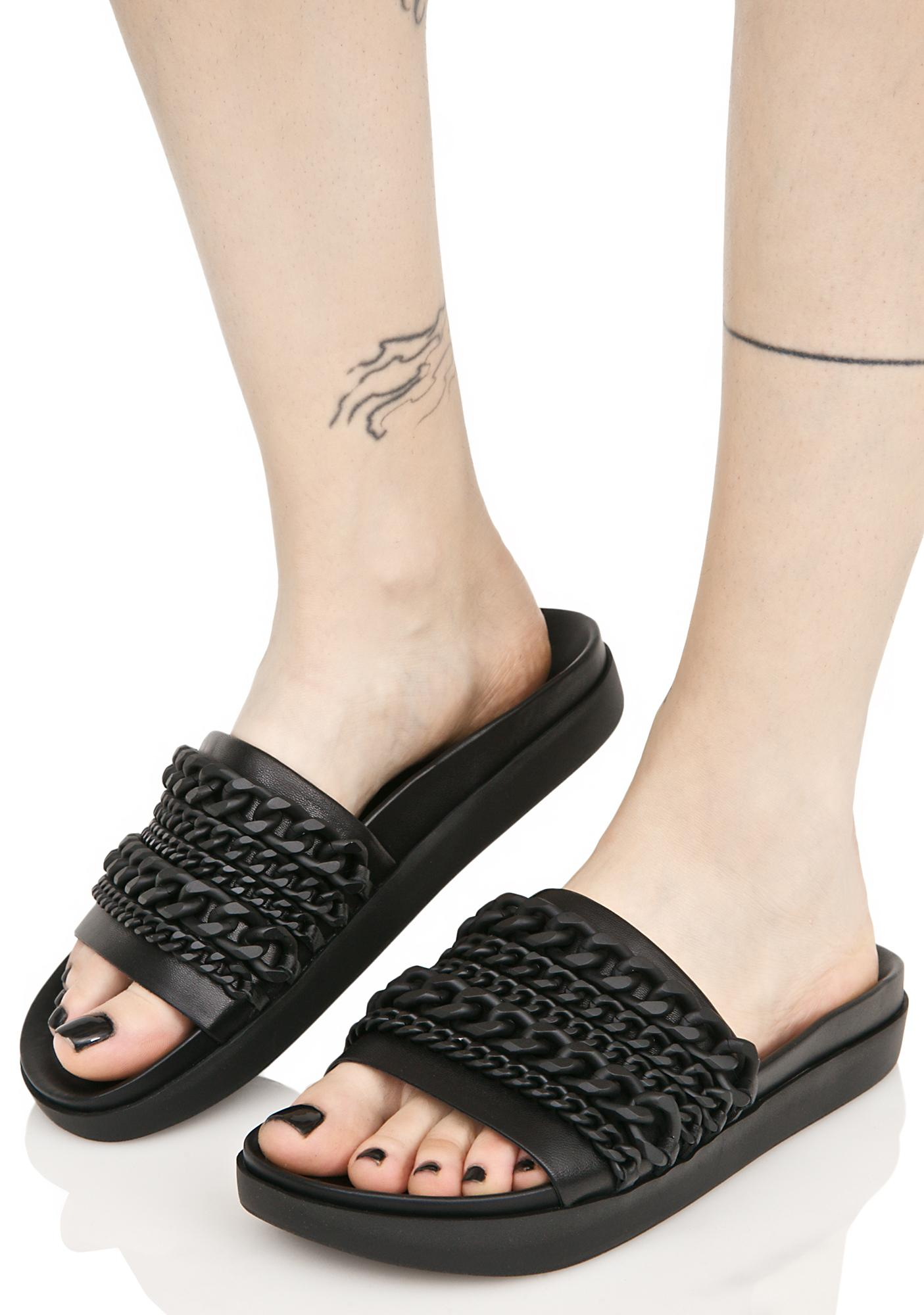 6f1cafd4ba6066 Kendall + Kylie Onyx Slide Sandal With Chains