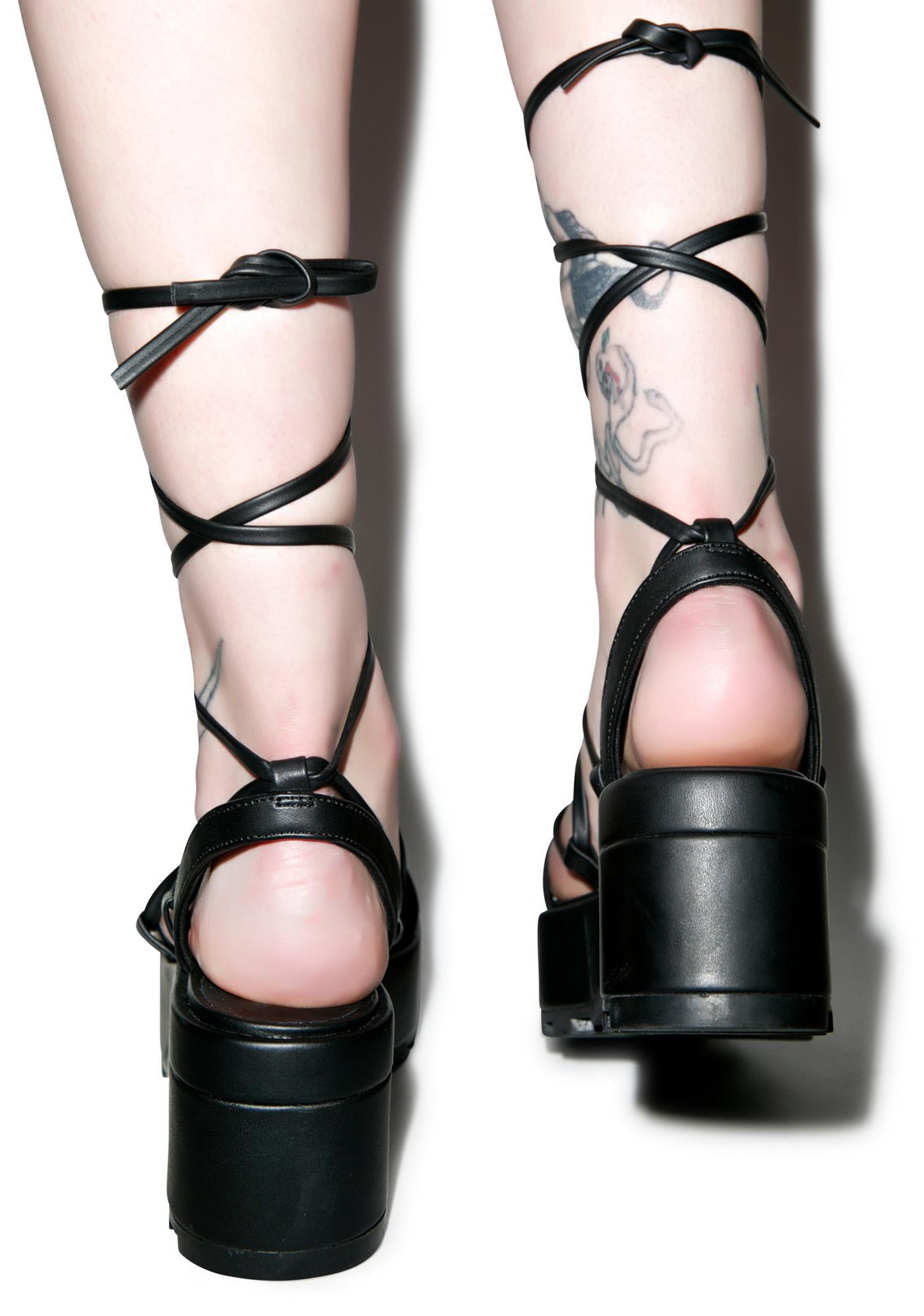 Cheap Monday Trapped Tied Sandals