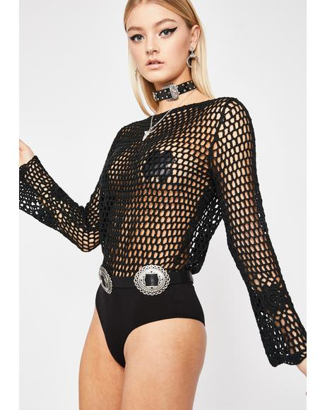 Savage Sinner Crochet Bodysuit