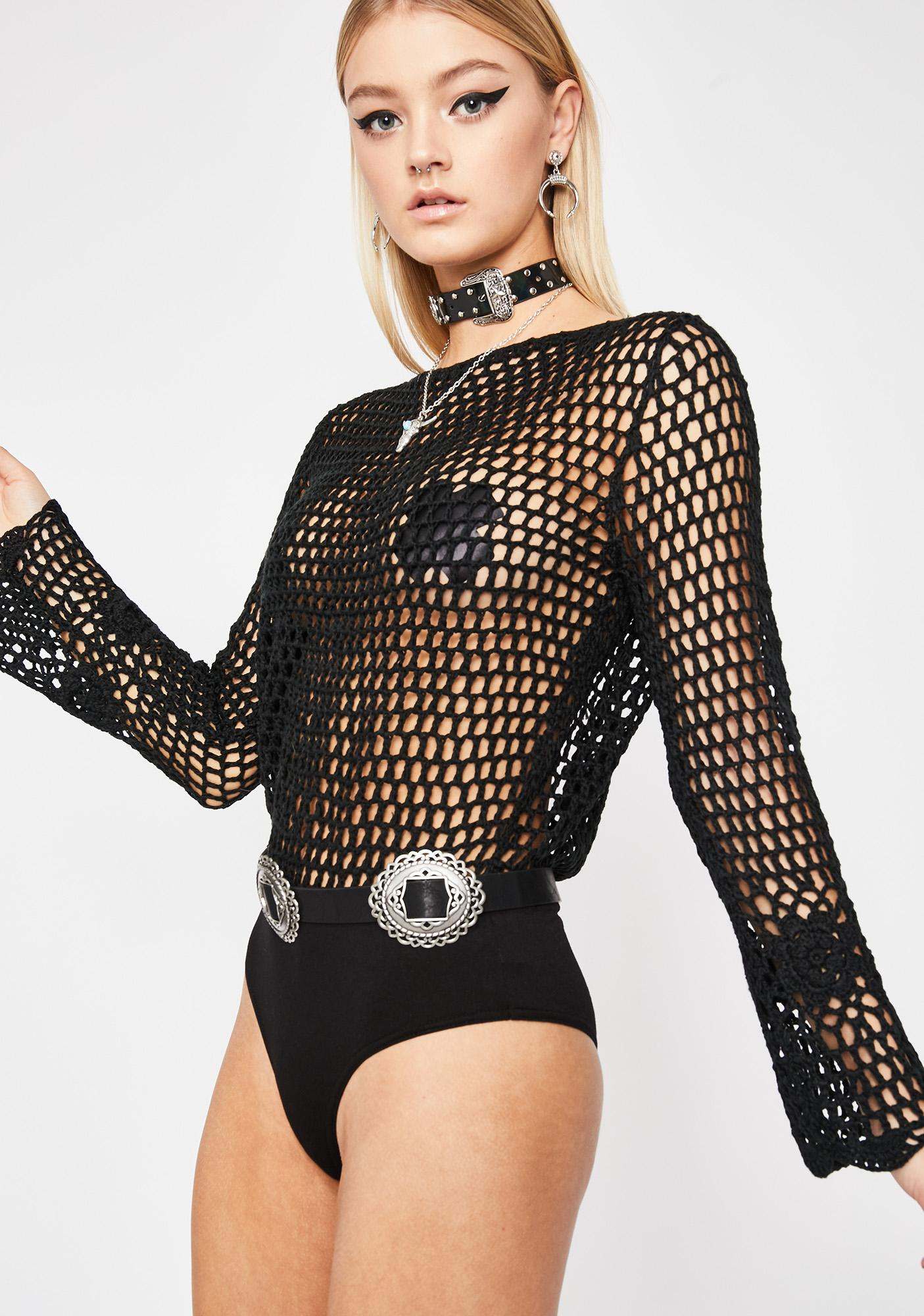 Savage Sinner Crochet Bodysuit