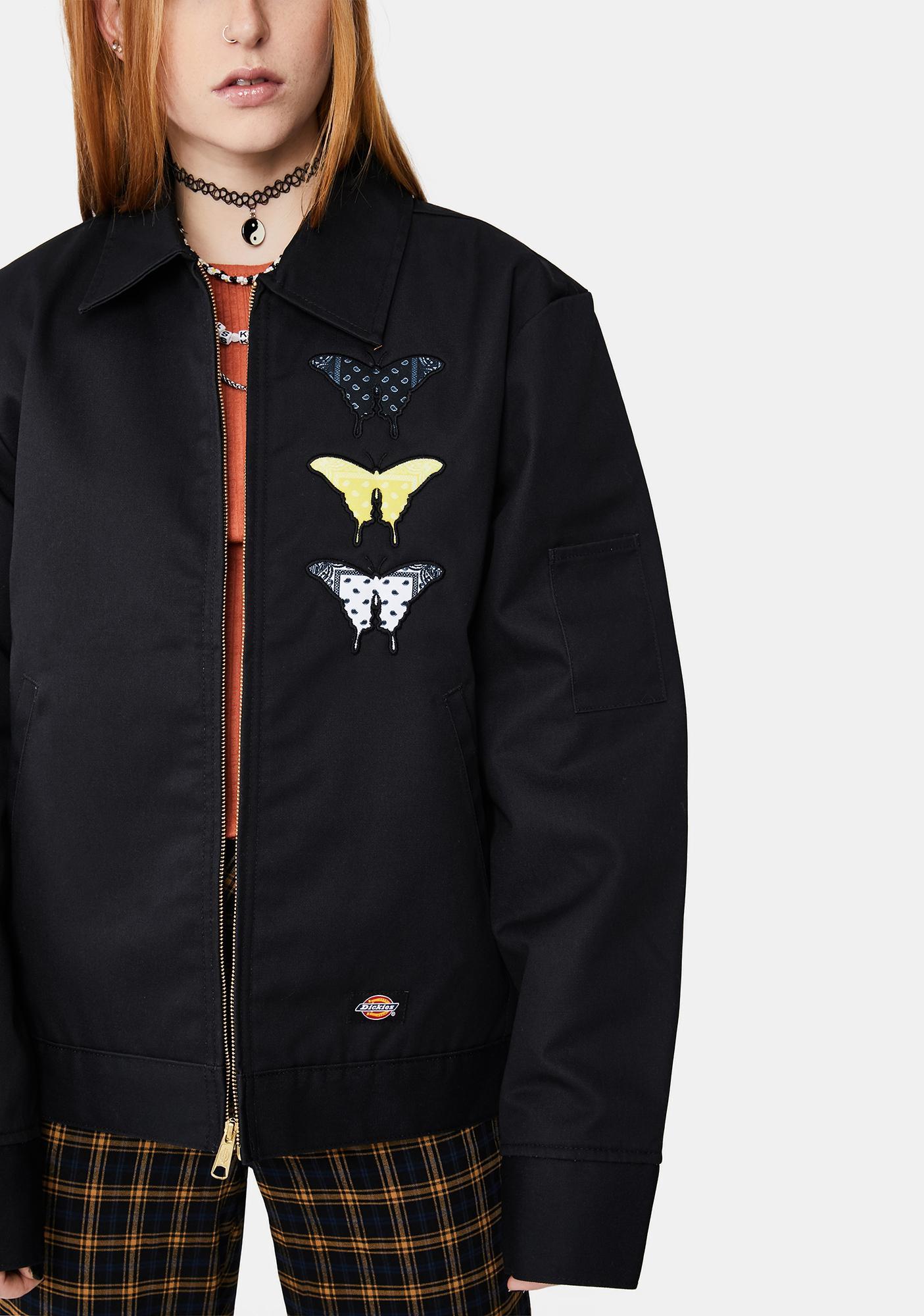 Funeral Bandana Butterfly Eisenhower Bomber Jacket